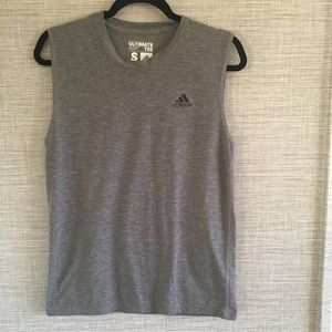 Adidas Ultimate Tee Gray Tank Top Size S